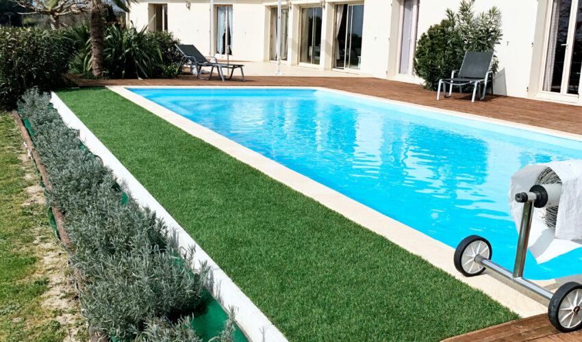Réalisation d'une piscine maçonnée par Piscines Anca